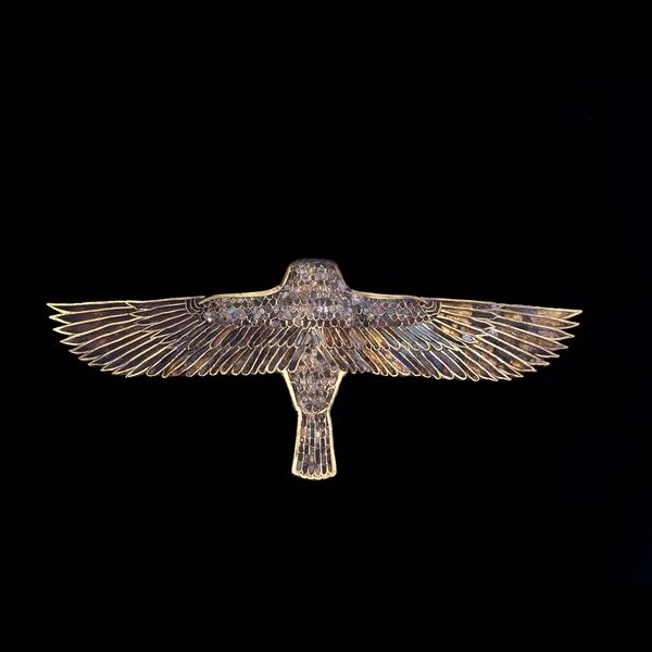 didoofcarthage:  Gold pectoral of a hovering fountain Egypt, Late Period, after 600B.C. gold inlaid with multicolored glass The British Museum
