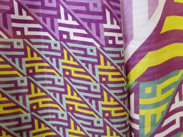 Camus scarf in 'spring' colour scheme