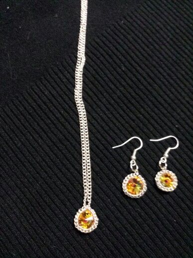 Rivoli crystal necklace