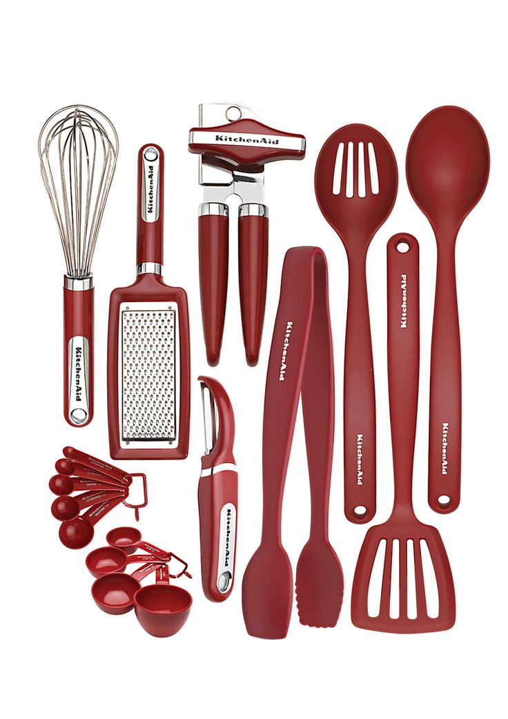 kitchenaid 17 piece gadget set red want pinterest events black and aqua. Black Bedroom Furniture Sets. Home Design Ideas