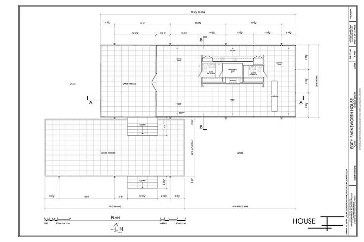 farnsworth house plan - Google Search