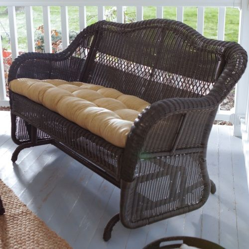 Coral Coast Casco Bay Resin Wicker Double Glider - Outdoor Gliders at Hayneedle