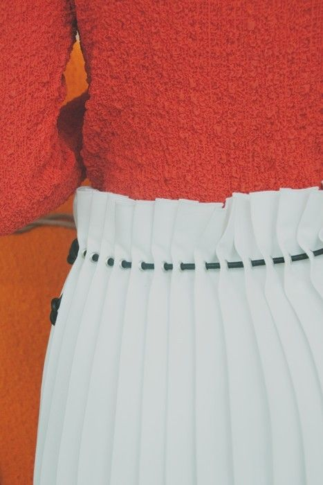 threaded pleats / trager + delaney