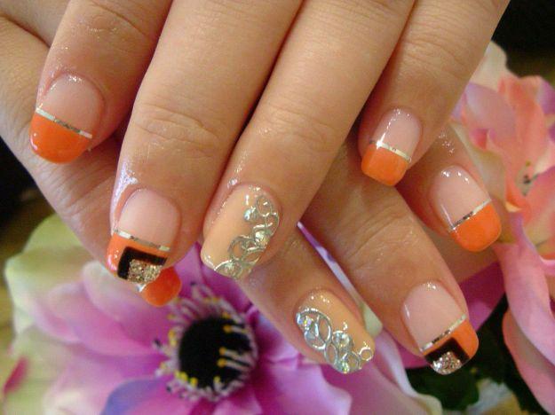 Французский маникюр (френч) с рисунком ::: onelady.ru ::: #nail #nails #nailart #manicure