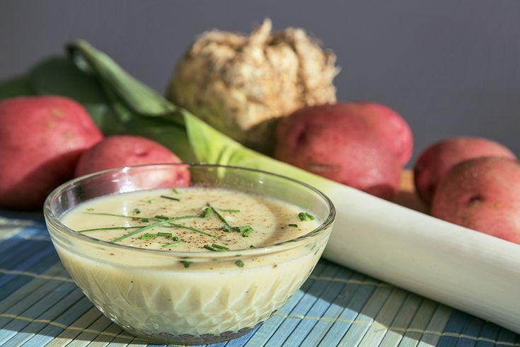 Crème de poireaux et céleri-rave #recettesduqc #soupe #potage #poireau
