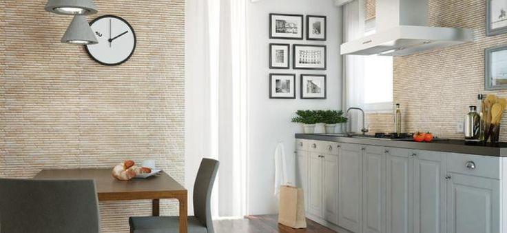 klinkier w kuchni / kamień w kuchni / płytki klinkierowe Tulsi Brick / Cerrad