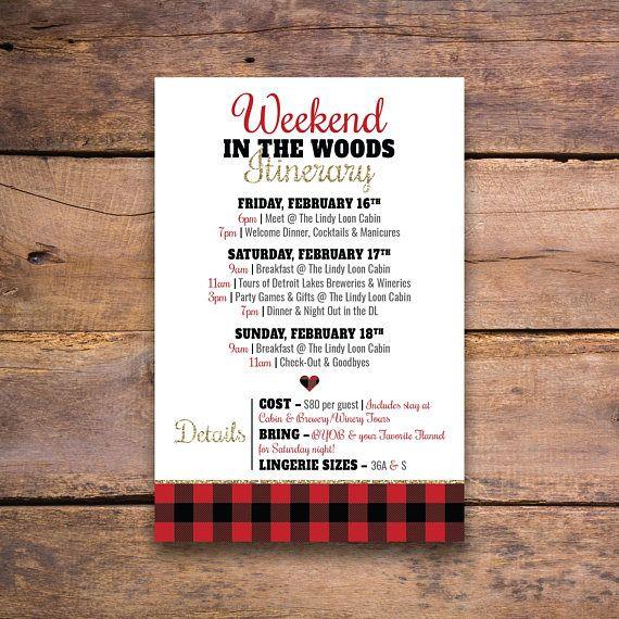 Buffalo Plaid Bachelorette Party Invitation Customizable File