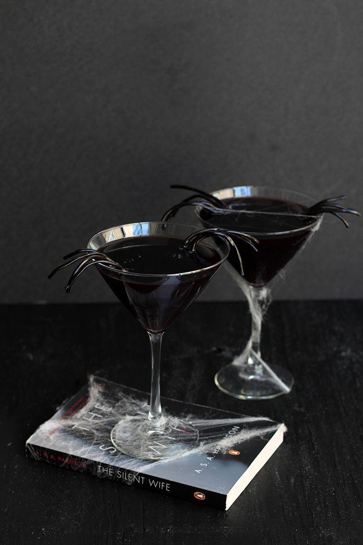 Black Licorice Widow Martini recipe perfect for Halloween!