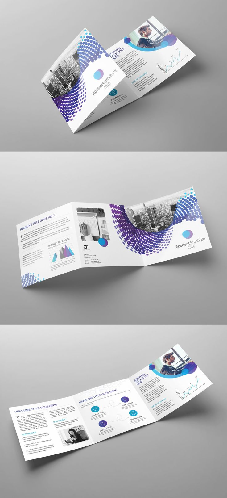 Tri fold square brochure template indesign indd brochure for Free tri fold brochure template indesign