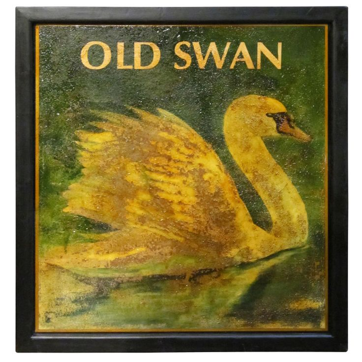 English Pub Sign - Old Swan | From a unique collection of antique and modern signs at http://www.1stdibs.com/furniture/folk-art/signs/