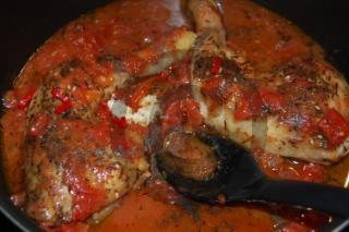 : Pollo libanese (cosce di pollo con zatar e salsa libanese)