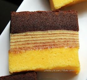 My last egg yolk laden yet delicious cakefor this year's Chinese New Year :)              The lapis legit layer used cream cheese, while th...