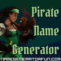 The Pirate Name Generator: Allow a random name generator help you pick the perfect pirate name, matey.