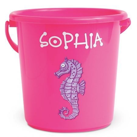 Fun-in-the-Sand Plastic Bucket... Personalized | $7.99 for 2 | Great end-of-year gift idea for GIRLS in Puggles' class! #giftideas #awana #awanagifts #awanacubbies #awanapuggles