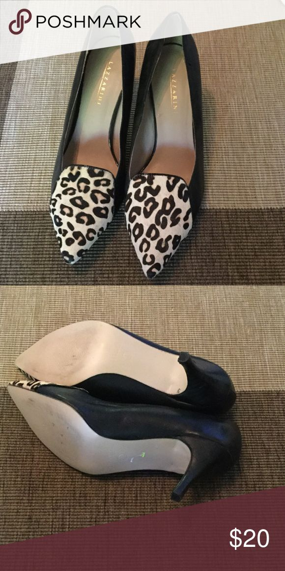 Preowned Lazzarini black and cheetah heels Lazzarini black and cheetah heels, used only once for an event. lazzarini Shoes Heels