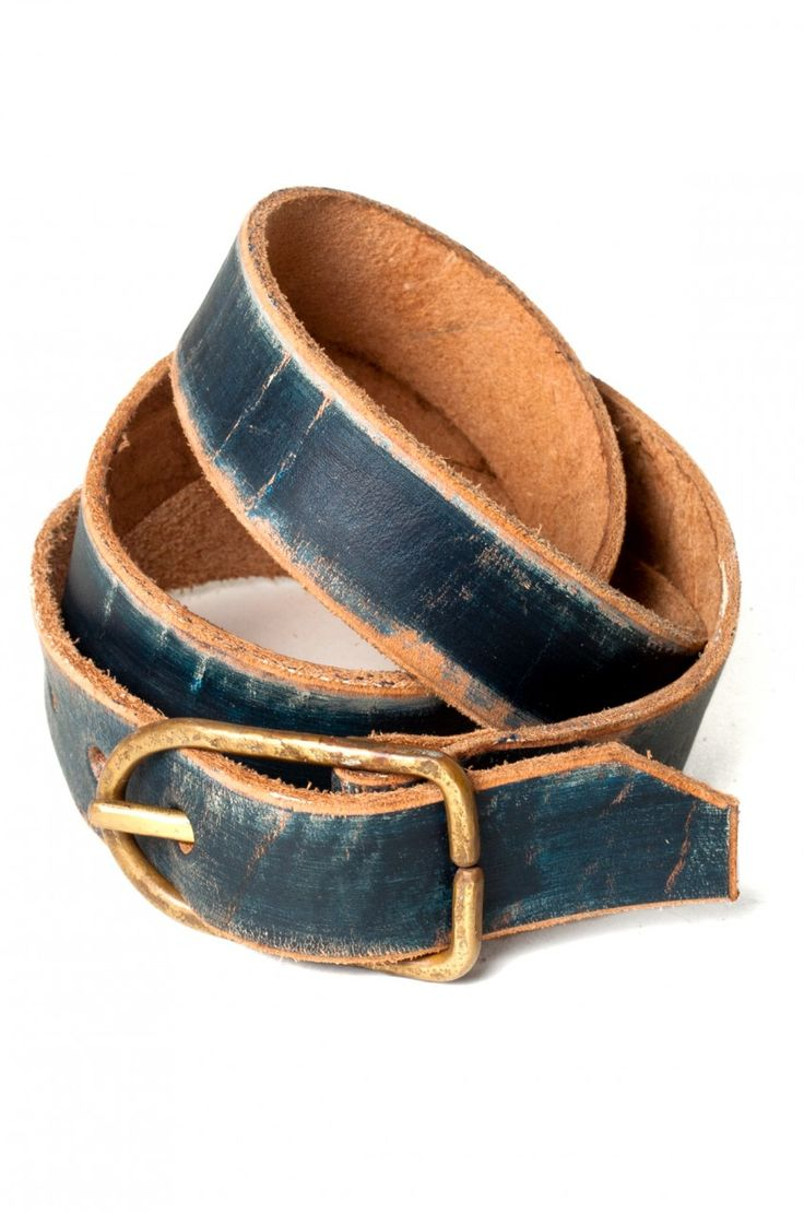 Rogues Gallery - C+E navy leather belt