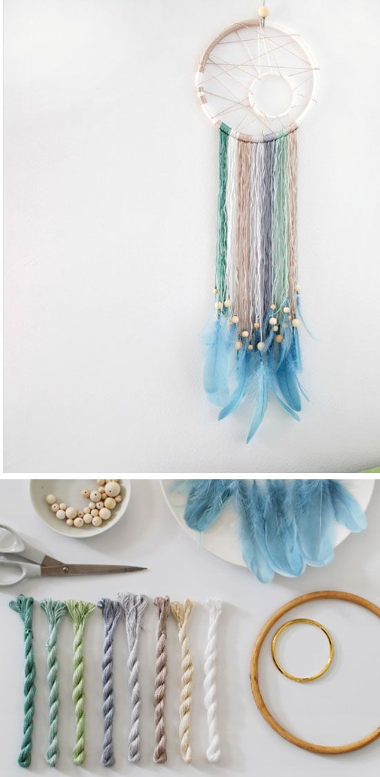 Make a Modern Dreamcatcher | Click Pic for 20 Dollar Store Crafts for Home Decor Ideas for Cheap | DIY Home Decor Hacks Tips and Tricks