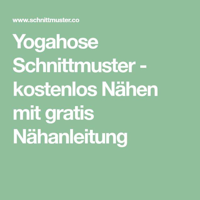 Yogahose Schnittmuster - kostenlos Nähen mit gratis Nähanleitung ...