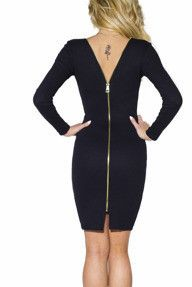 Czarna sukienka z suwakiem z tyłu