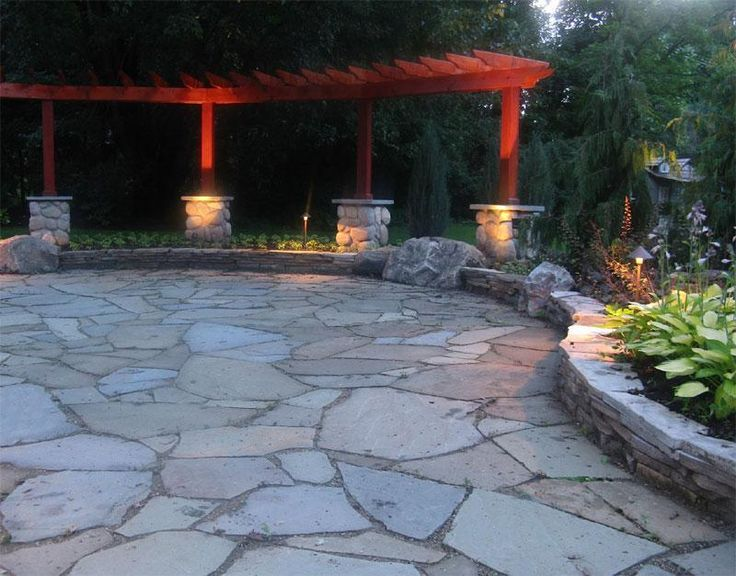 best 25+ stone patio designs ideas on pinterest | paver stone ... - Backyard Stone Patio Ideas