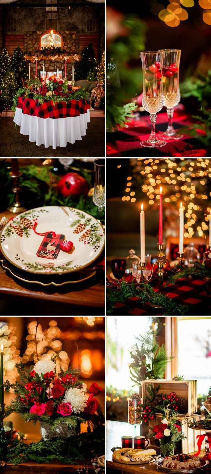 Rustic Christmas Table Decor Ideas In 2020 Christmas Table Decorations Colorado Christmas Christmas Wedding
