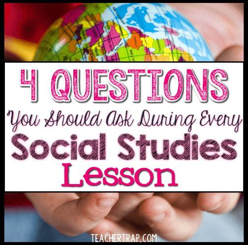 Social Studies Questions - Teacher Trap