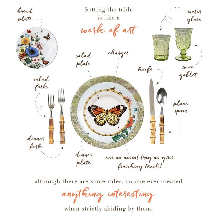It is important to know the rules so you can break them in style! Our collections are designed to be mixed & matched, allowing endless possibilities for fabulous table settings that are uniquely you.
