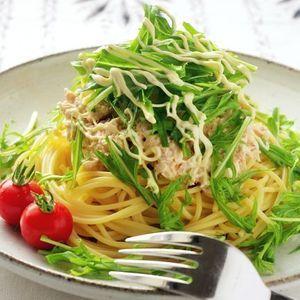 めんつゆで作る!水菜のツナおろしスパゲティ by 高羽ゆきさん | レシピブログ - 料理ブログのレシピ満載! 味付けはめんつゆとマヨネーズだけ!簡単にできるあっさり和風パスタです。