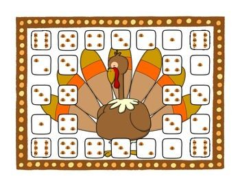 Free! Turkey Roll and cover board to pair with any activity!