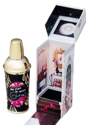 My place or yours Gina Benefit: pink pepper, bergamot, tangerine, peony, raspberry, lily, Tonka, vanilla and patchouli.