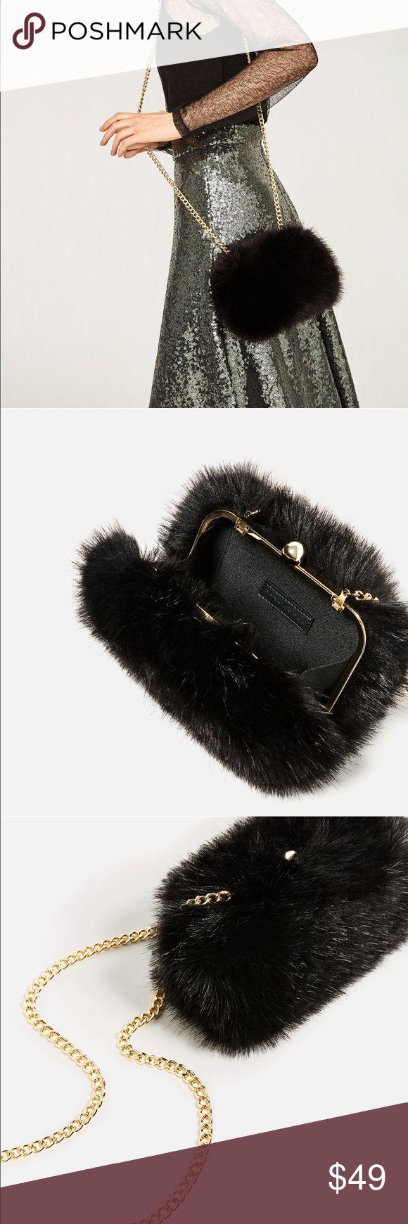 Zara Bag Faux Fur Bag! Zara Sold Out Online. New W/O Tags 😊 Zara Bags