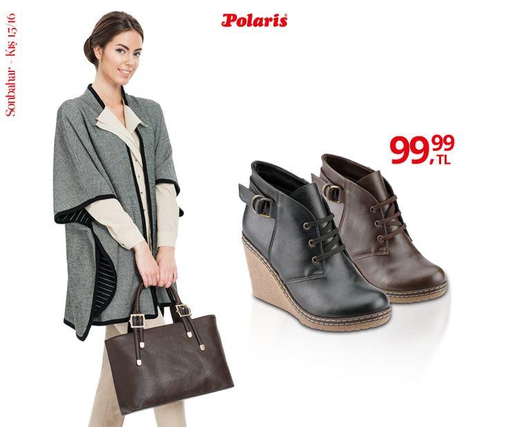 Dolgu topuklar günlük hayatta da rahatlıkla kullanılmaya hazır! #AW15 #newseason #winter #kış #yenisezon #fashion #fashionable #style #stylish #polaris #polarisayakkabi #shoe #ayakkabı #shop #shopping #women #womenfashion #trend #moda #ayakkabıaşkı #shoeoftheday