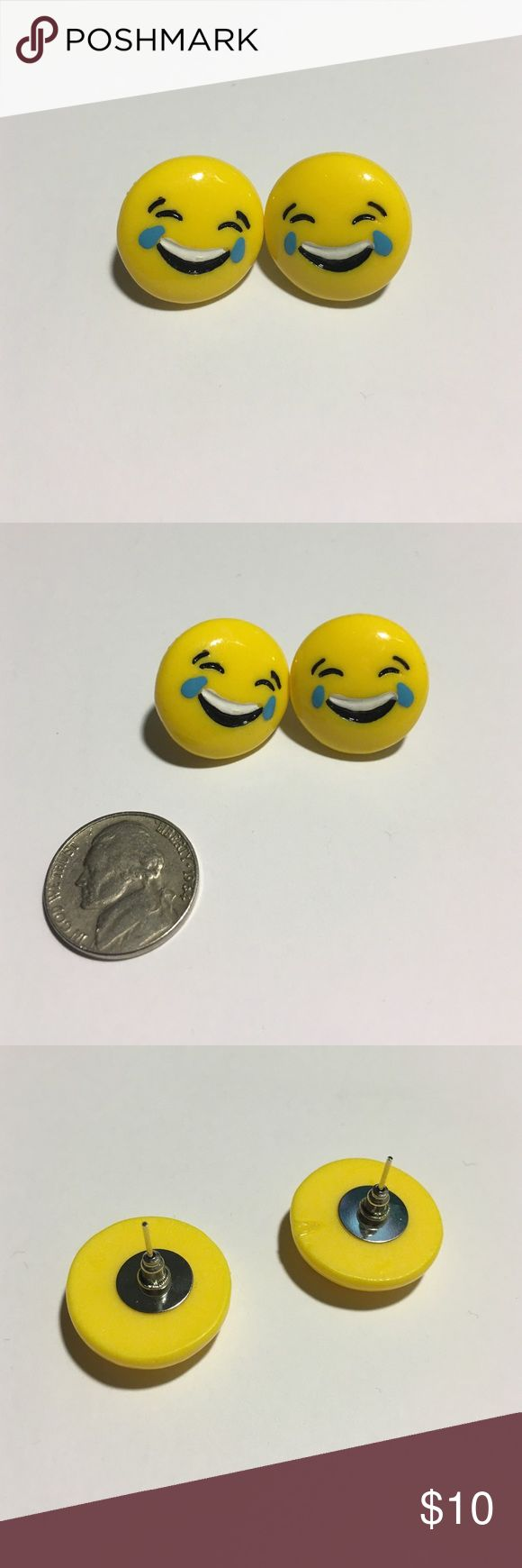 😂 Yellow Crying Laughing Emoji Stud Earrings 😂 Stunning yellow emoji laughing crying stud earrings in amazing condition. No damage. Super chic and stylish! Cotton Jangle Boutique Jewelry Earrings