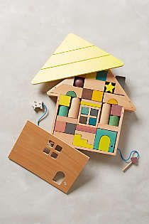 Anthropologie - Building Blocks House Puzzle