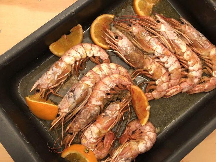 #gamberoni al forno con #arance
