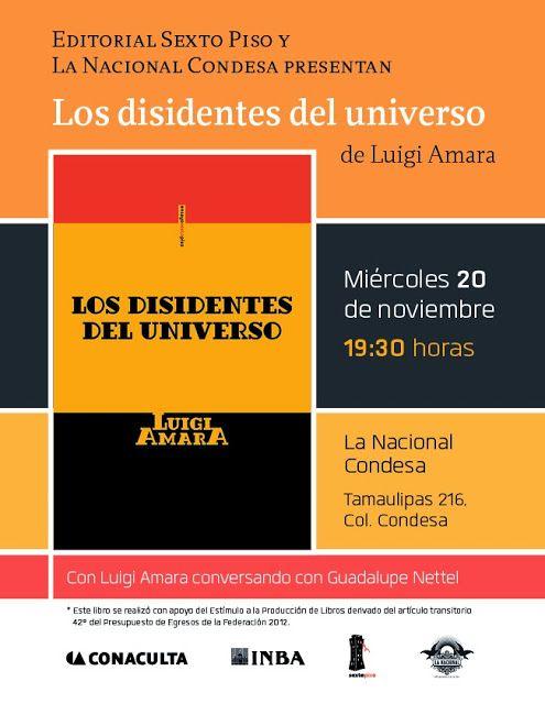 7:30pm en La Nacional(Tamaulipas 26, col. Condesa, muy cerca de la librería Rosario Castellanos).