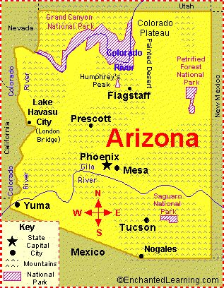 Arizona - We have visited the Grand Canyon and spent our 3rd wedding anniversary at the Camelback Inn in Phoenix.