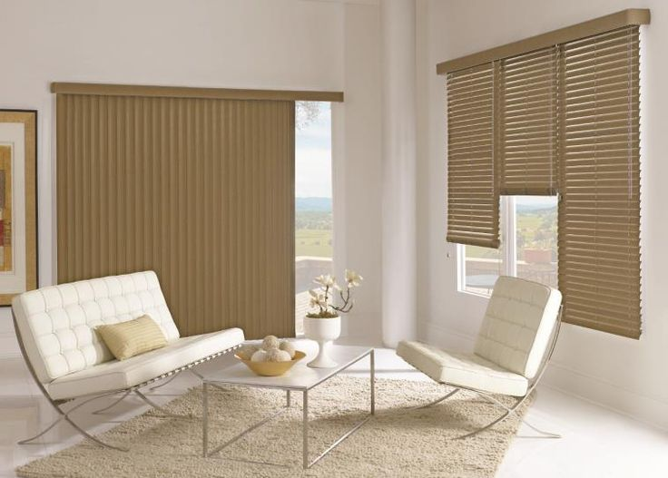 Coordinate easy-to-clean vinyl vertical blinds with horizontal blinds in a large assortment of colors. #BudgetBlinds