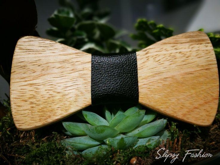 Wooden Bow Tie By Slipsy Fashion www.slipsy.se