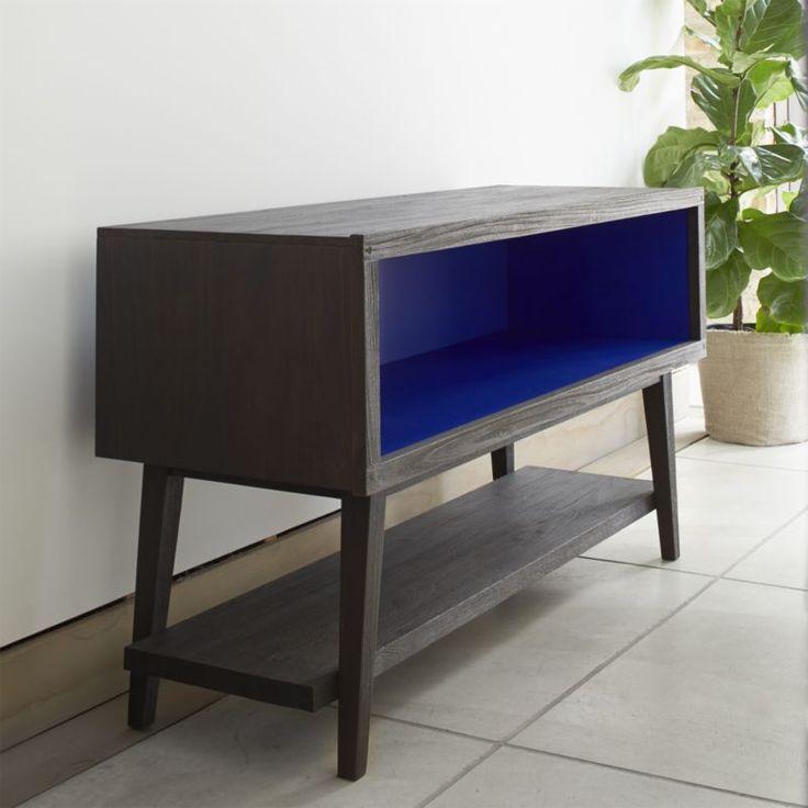 indigo teak console in tv stands u0026 media consoles