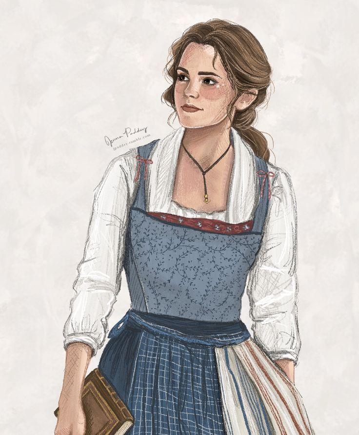 HYPE HYPE HYPE HYPE HYPE HYPE   - Jenna Paddey Art - Disney's Beauty and the Beast - Belle - Emma Watson - Fan art