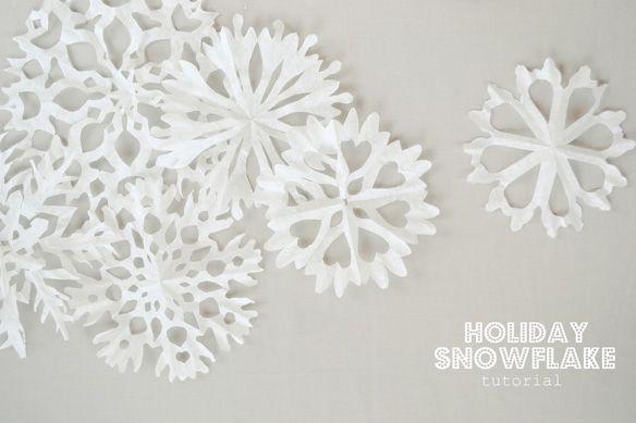 DIY flocons de neige en papier déco Noël