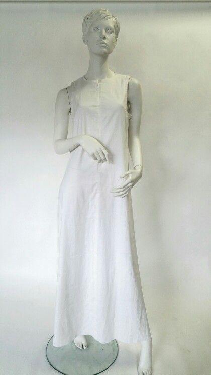 Peace Lily long linen dress.
