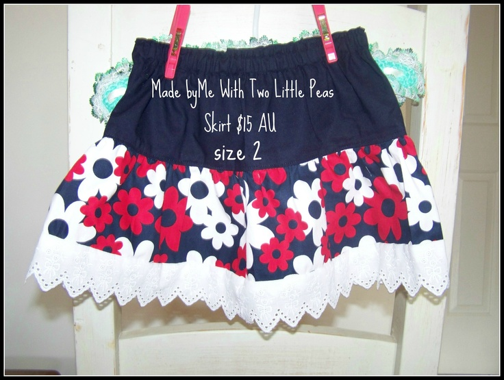 Size 2 skirt - 100% cotton - perfect for pairing with a t-shirt in Summer or layering with tights and a long sleeve shirt in Winter