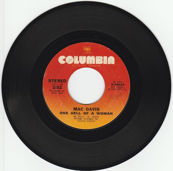 1974    ONE  HELL  OF  A  WOMAN   -   MAC  DAVIS #RocknRoll