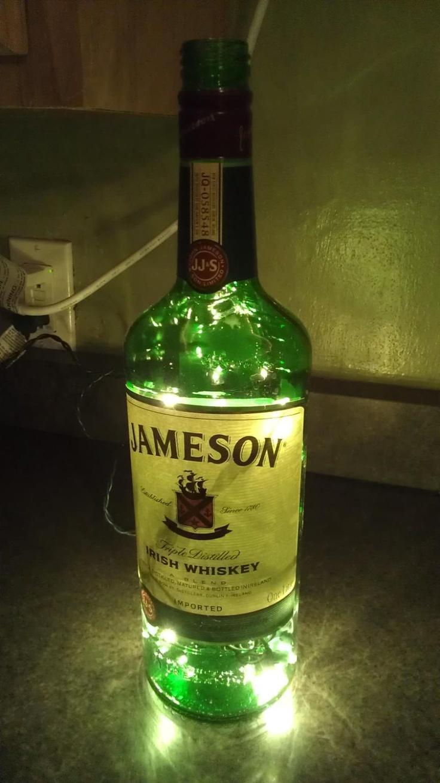 Jameson Liquor Bottle Lamp. $15.00, via Etsy.