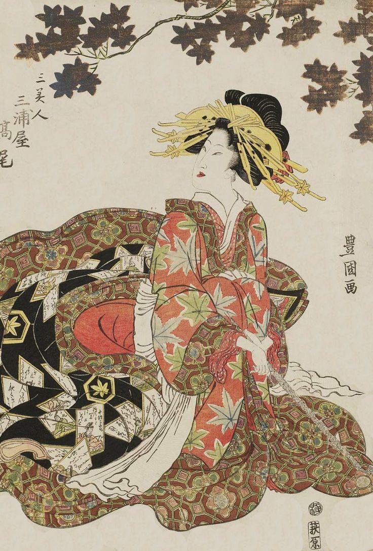 Takao of The Miuraya Ukiyo-e woodblock print. Early 19th century, Japan. ArtistUtagawa Toyokuni I