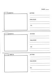 Storyboard Template Templates Plan Your Book Trailer