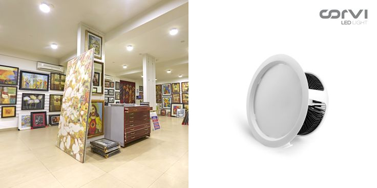 The art gallery in #India is adorned with Corvi LED Light. #CorviLEDLight