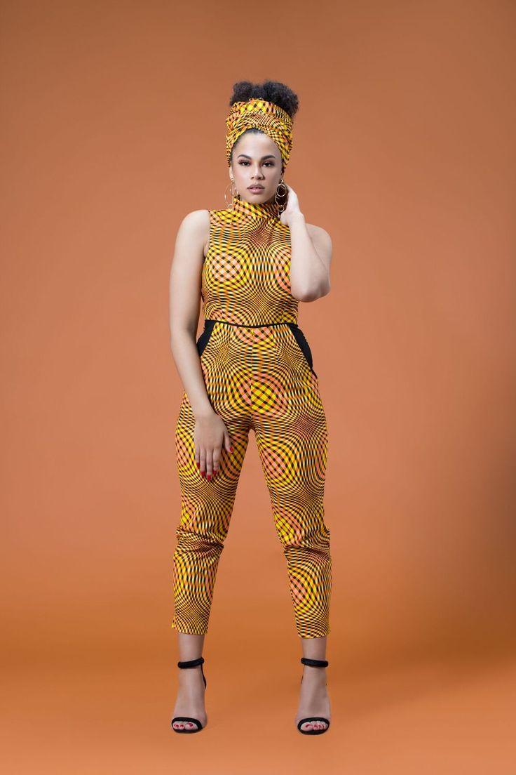 African Print Darcelle Jumpsuit